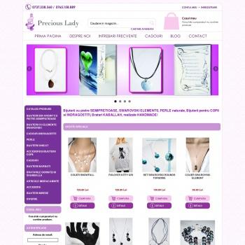 Website pentru firma Precious Lady