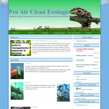 Website pentru firma PRO AIR CLEAN