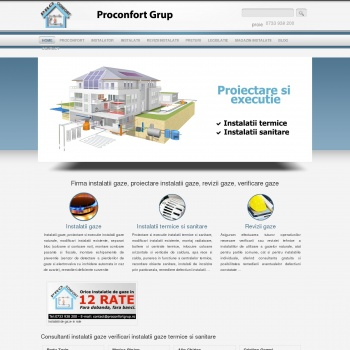 Website pentru firma Proconfort Grup