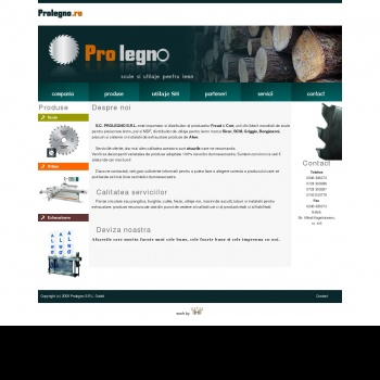 Website pentru firma PROLEGNO SRL