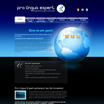 Website pentru firma Pro Lingua Expert
