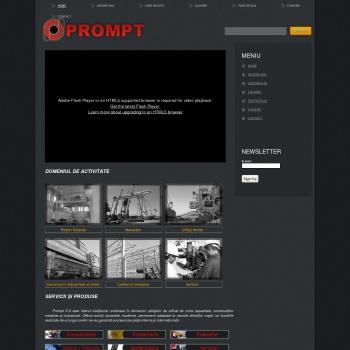 Website pentru firma PROMPT SA