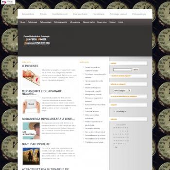 Website pentru firma Cabinet de Psihologie Galati - Lucretia Preda
