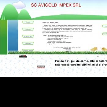 Website pentru firma SC AVIGOLD IMPEX SRL