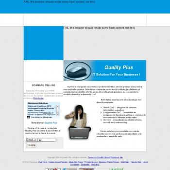 Website pentru firma Quality Plus