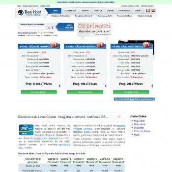 Website pentru firma Real Host