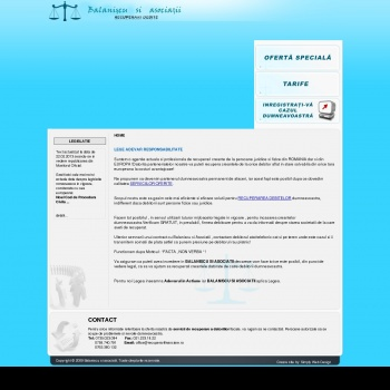 Website pentru firma Balaniscu si Asociatii