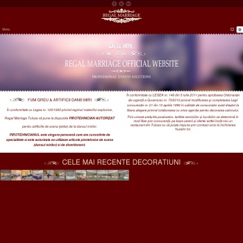 Website pentru firma SC REGAL MARRIAGE SRL