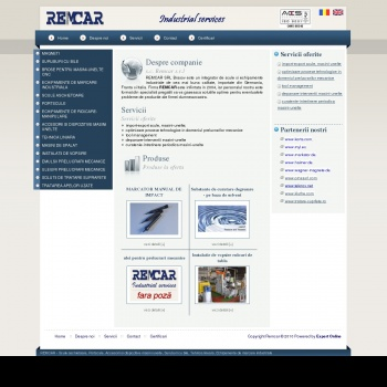 Website pentru firma S.C. REMCAR S.R.L.