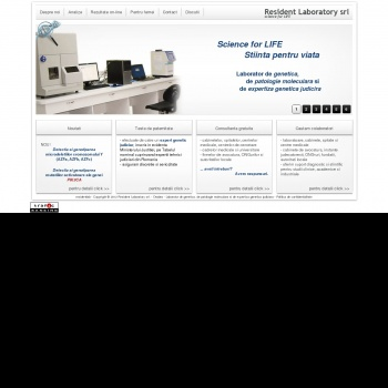 Website pentru firma Resident Laboratory srl