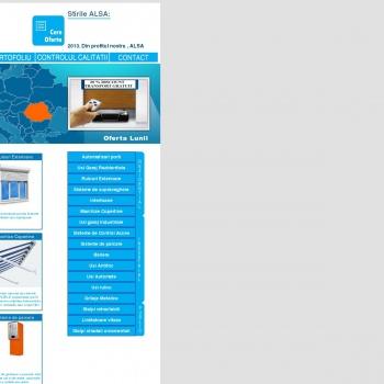 Website pentru firma ALSA AUTOMATIZARI