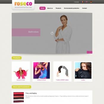 Website pentru firma Sc Roseco Srl