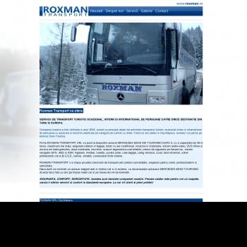 Website pentru firma Roxman Transport SRL