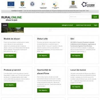 Ruralonline – Afaceri la tara si idei de afaceri