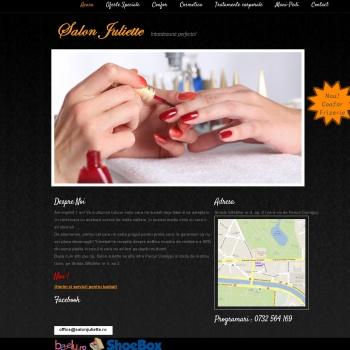 Website pentru firma Salon Juliette