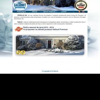 Saltonit - produs antiderapant pentru deszapezire si dezghetare