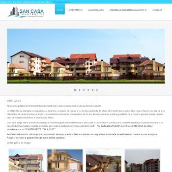 Website pentru firma SC SAN CASA SRL