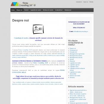Website pentru firma SC SAPHIRA CONSULTING SRL