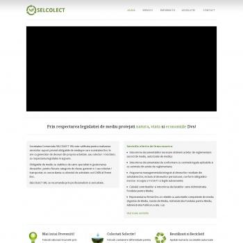 Website pentru firma SC SELCOLECT SRL