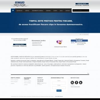 Website pentru firma SCA DOBRE, CECHI SI ASOCIATII