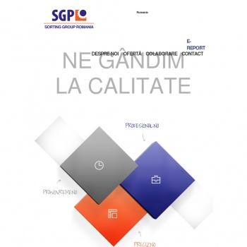 Website pentru firma SGP SORTING GROUP SRL