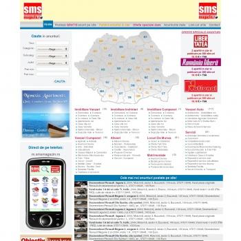 smsmagazin.ro. Publicare anunturi in ziare si 500 site-uri