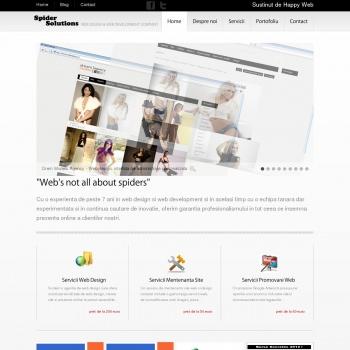 Spider Solutions - web design, creare site Bucuresti