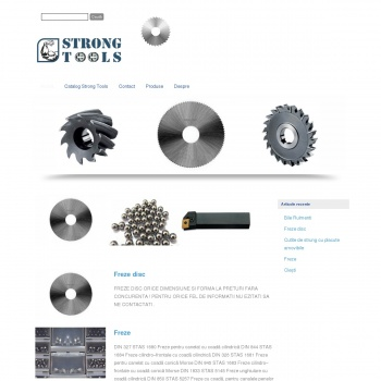 Website pentru firma STRONG TOOLS SRL