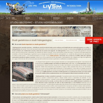 Website pentru firma SC Livsim Policom SRL
