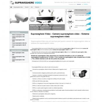 Supraveghere video - Camere supraveghere video - Sisteme suprave