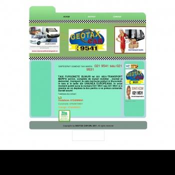 GETAX ROMANIA TAXI TRANSPORT MARFURI TEL 021 9531/021 9541
