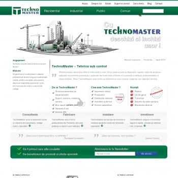 Website pentru firma Technomaster