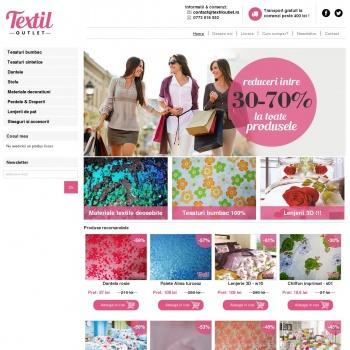 Website pentru firma Textil-Outlet.ro