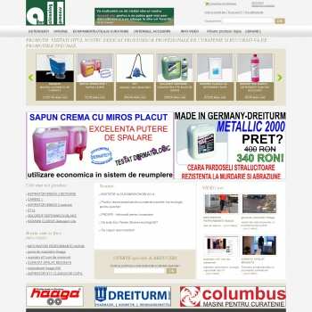Website pentru firma ALL FOR CLEANING PROCESS