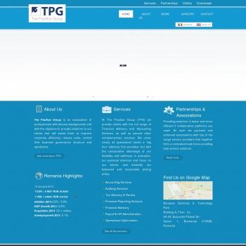 Website pentru firma TPG Advisory Practice