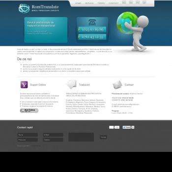 Website pentru firma S.C. ROMTRANSLATE S.R.L