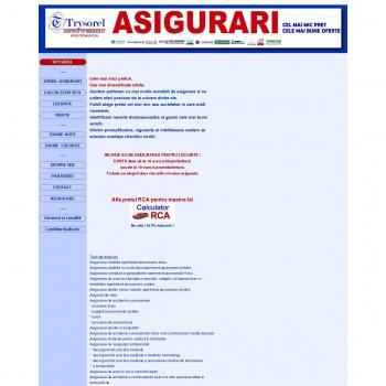 Website pentru firma TRYSOREL ASIGURARI