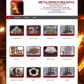 Website pentru firma METALURGICA MOLDOVA