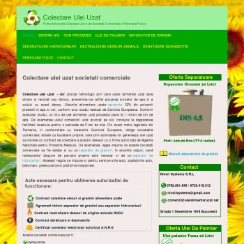 Website pentru firma Nlvoil Systems SRL