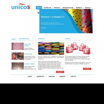 Website pentru firma UNICO S