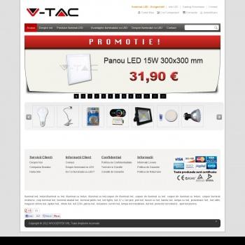 Website pentru firma KROGERTEK - V-TAC Romania