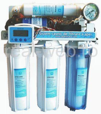 Filtru de apa cu osmoza inversa si monitor TDS